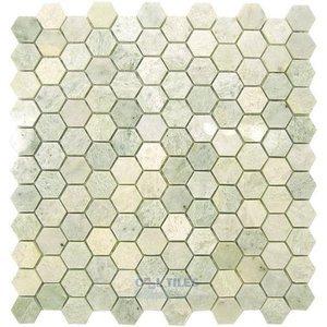 Marble Mosaic Tile Hexagon Ming Green