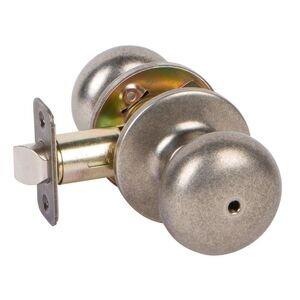 Delaney Hardware Privacy Saxon Knob in Antique Silver