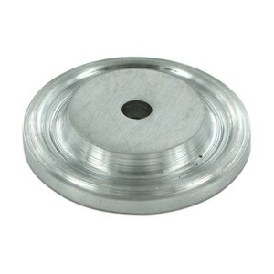 "Deltana - Solid Brass 1 1/2"" Diameter Knob Backplate in Brushed Chrome"