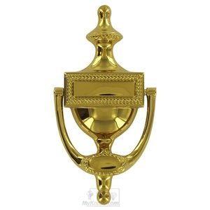Deltana Hardware Solid Brass Victorian Rope Door Knocker in PVD Brass