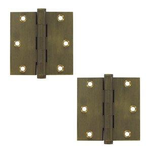 "Deltana Hardware Solid Brass 3 1/2"" x 3 1/2"" Standard Standard Door Hinge (Sold as a Pair) in Bronze Medium"