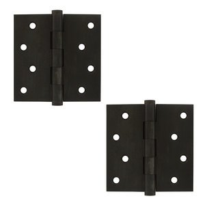 Deltana Hardware Zag Screw Hole Square Door Hinge (Sold as a Pair) in Oil Rubbed Bronze