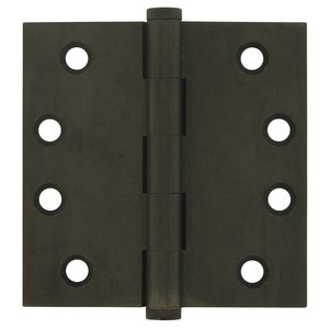 "Deltana - Solid Brass 4"" x 4"" Standard Standard Door Hinge (Sold as a Pair) in White Dark"