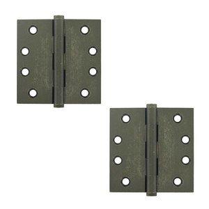 "Deltana Hardware Solid Brass 4"" x 4"" Standard Standard Door Hinge (Sold as a Pair) in White Medium"