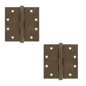 "Deltana Hardware Solid Brass 4 1/2"" x 4 1/2"" Standard Square Door Hinge (Sold as a Pair) in Bronze Medium"