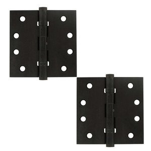 Deltana Hardware Removable Pin Square Door Hinge (Sold as a Pair) in Oil Rubbed Bronze
