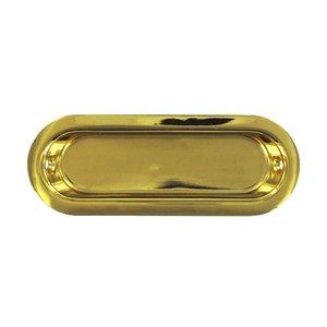 "Deltana Hardware Solid Brass 3 1/2"" x 1 1/4"" Oblong Flush Pull in PVD Brass"