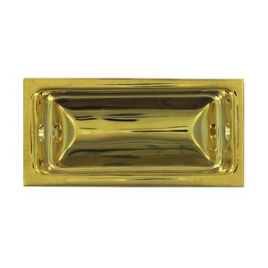 """Deltana Hardware Solid Brass Large 3 5/8"""" x 1 3/4"""" Flush Pull in PVD Brass"""