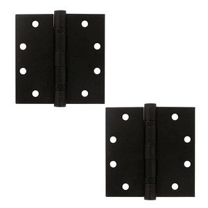 """Deltana Hardware 4 1/2"""" x 4 1/2"""" 2 Ball Bearing/Heavy Duty Square Door Hinge (Sold as a Pair) in Oil Rubbed Bronze"""