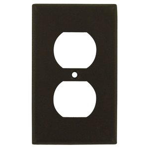 Deltana - Solid Brass Single Duplex Outlet Switchplate in Oil Rubbed Bronze
