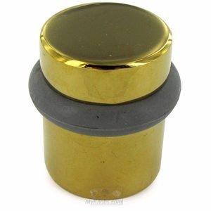 """Deltana Hardware Solid Brass 1 1/2"""" Round Universal Floor Bumper in PVD Brass"""