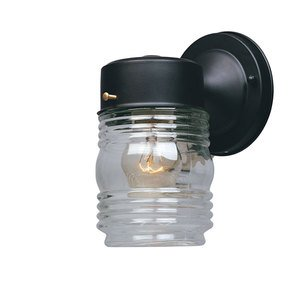 "Designers Fountain Lighting - Basic Porch - 4"" Jelly Jar Lantern in Black with Clear"