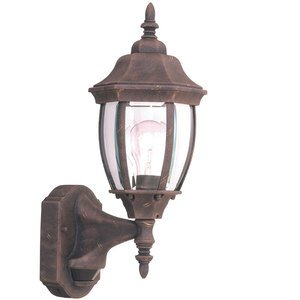 "Designers Fountain 6"" Wall Lantern - Motion Detector in Autumn Gold with Clear"