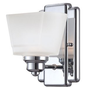 Designers Fountain Wall Sconce in Chrome with Frosted