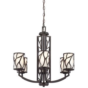 Designers Fountain 6 Light Chandelier in Artisan with White Opal