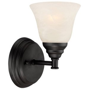 Designers Fountain Wall Sconce in Oil Rubbed Bronze with Frosted