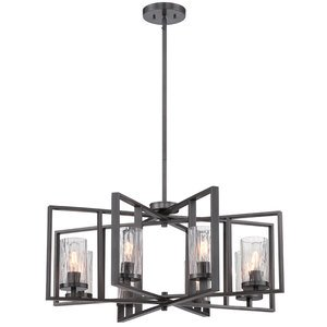 Designers Fountain Lighting Elements 8 Light Chandelier In Charcoal With Rain