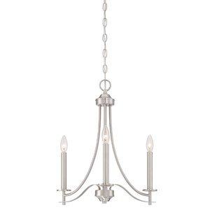 Designers Fountain 3 Light Chandelier in Satin Platinum