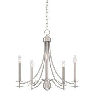 Designers Fountain 5 Light Chandelier in Satin Platinum