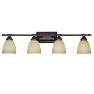 Designers Fountain Interior Bath / Vanity / Wall Sconce in Oil Rubbed Bronze with Warm Amber Glaze