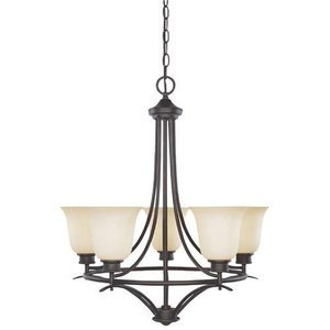 Designers Fountain Interior Chandelier in Oil Rubbed Bronze with Satin Bisque