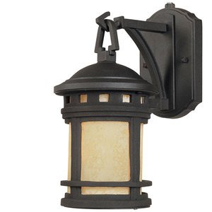 "Designers Fountain 5"" Wall Lantern - Energy Star in Oil Rubbed Bronze with Amber"
