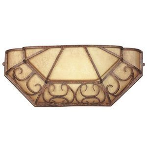 Designers Fountain Interior Wall Sconce in Burnt Amber with Glacier with Amber Toning
