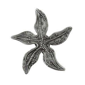 "Acorn MFG 1 7/8"" Beaded Starfish Knob in Antique Pewter"