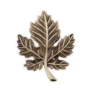 """Acorn MFG 1 3/4"""" Leaf Knob in Antique Brass"""