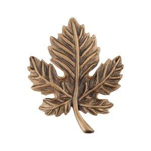 """Acorn MFG 1 3/4"""" Leaf Knob in Museum Gold"""