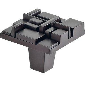 """Du Verre Hardware 1 1/2"""" Square Knob in Oil Rubbed Bronze"""