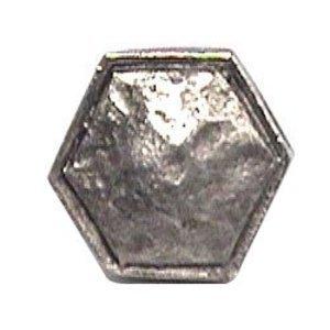 Emenee Small Hammered Octagon Edge Knob in Antique Matte Silver
