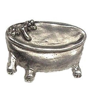 Emenee Bath Tub Knob in Antique Matte Silver