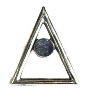 Emenee Triangle Knob in Antique Matte Copper