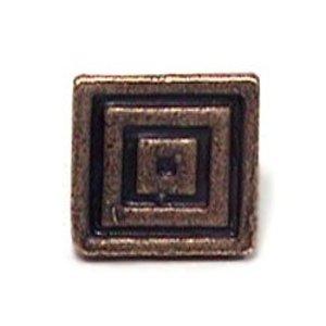 Emenee Small Square Knob in Antique Matte Copper