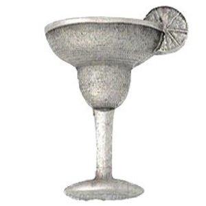 Emenee Margarita Glass Knob in Aged Brass