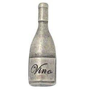 Emenee Wine Bottle Knob in Polished Silver