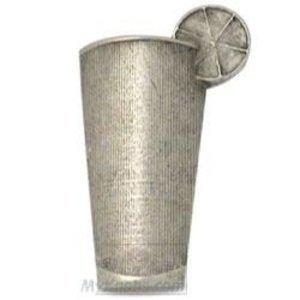 Emenee Iced Tea Glass Knob in Polished Silver