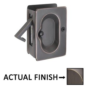 Emtek Hardware Passage Pocket Door Lock in Medium Bronze