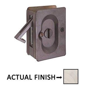 Emtek Hardware Privacy Pocket Door Lock in Tumbled White Bronze