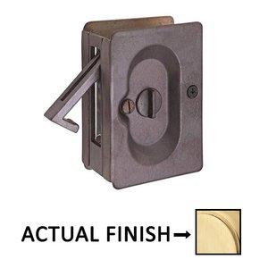 Emtek Hardware Privacy Pocket Door Lock in Satin Brass