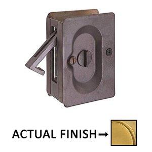 Emtek Hardware Privacy Pocket Door Lock in French Antique Brass