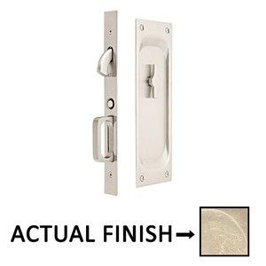 Emtek Hardware   Privacy Pocket Door Mortise Lock In Tumbled White Bronze