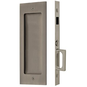 Emtek Hardware Modern Rectangular Dummy Pocket Door Mortise Lock in Pewter