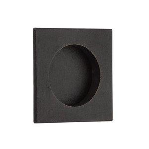 "Emtek Hardware 2 1/2"" Square Flush Pull in Medium Bronze"