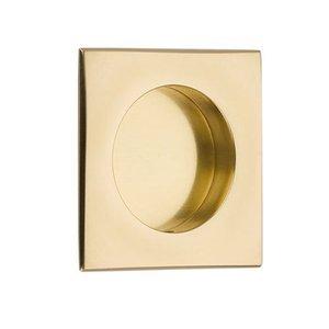 """Emtek Hardware 2 1/2"""" Square Flush Pull in Polished Brass"""