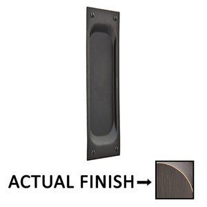 "Emtek Hardware 7 1/2"" Classic Rectangular Flush Pull in Medium Bronze"