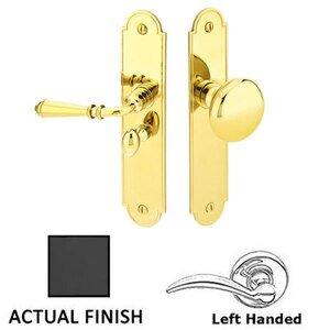 Emtek Hardware Left Hand Arch Style Screen Door Lock in Flat Black
