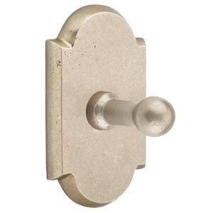Emtek Hardware Arched Single Hook in Tumbled White Bronze