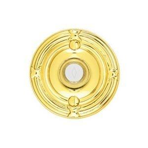 Emtek Hardware Illuminated Ribbon & Reed Door Bell in Polished Brass